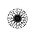 black spoke wheel vector image
