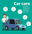 cars tips young man with vector image