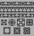 set collections of old greek ornaments antique vector image
