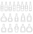 set of bottles with labels vector image