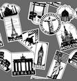vintage paper landmarks travel labels seamless vector image