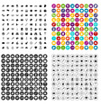 100 dog icons set variant vector image vector image