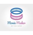 abstract cinema film logo template vector image vector image