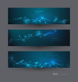 abstract molecules banners set 7-4-18 vector image vector image