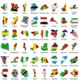 Africa maps vector image