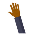afro american man hand icon flat style vector image
