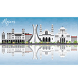 Algiers Skyline with Gray Buildings Blue Sky vector image vector image