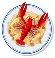 an isolated lobster pasta vector image vector image