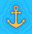 Anchor icon sand color icon with black
