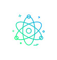 atom chemistry physics science icon design vector image vector image