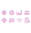 atom time management and efficacy icons set vector image vector image