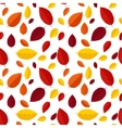 Autumn Leaves Seamless Pattern Background vector image