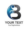 b letter initial alphabet logo design template vector image vector image