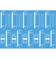 battery outlines icon on a blue colored background vector image vector image