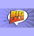 big sale pop art splash background explosion in vector image vector image