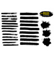black ink brush strokes vector image vector image