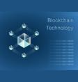 blockchain line icon logo concept vector image vector image
