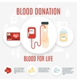 Blood Donor Icon vector image vector image