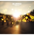 Blurred city street landscape with bokeh lights vector image