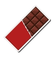 candy chocolate bar icon vector image