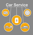 car service options flat banner template vector image vector image