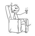 cartoon of happy successful man or businessman vector image vector image