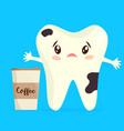 cartoon unhealthy coffee stain vector image vector image