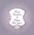 christmas retro greeting card and background vector image vector image