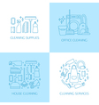Cleaning logo elements vector image vector image