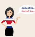 costa rica football fanscheerful soccer fans vector image vector image