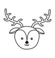 cute deer face cartoon vector image vector image