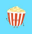 cute funny popcorn character hand drawn vector image vector image