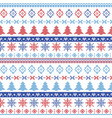 Dark and light blue and red Christmas pattern vector image vector image