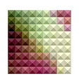 Deep Mauve Purple And Green Abstract Low Polygon