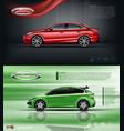 digital red model sedan car vector image vector image