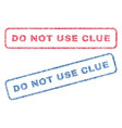 do not use clue textile stamps vector image vector image