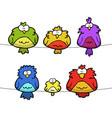 doodle set of birds vector image