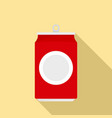 drink can icon flat style vector image