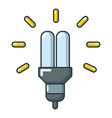 eco powersave lamp icon cartoon style vector image vector image