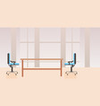 empty no people co-working center cabinet modern vector image vector image
