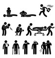 first aid rescue emergency help cpr medic saving vector image