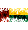 Flag of Guinea Bissau vector image vector image