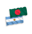 flags bangladesh and argentina on a white