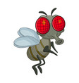 fly cartoon character design isolated on white vector image vector image