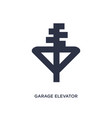 garage elevator icon on white background simple vector image vector image