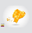 geometric polygonal style map of ecuador low poly vector image