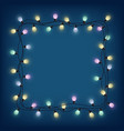 glowing bulb garland frame decorative light vector image vector image