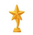 golden award trophy statue sport or movie award vector image