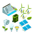 green energy saving factory power electric hydro vector image vector image