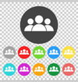 group people icon color flat vector image vector image